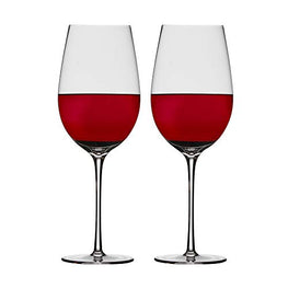 Chefoh Stemware Wine Glass - Comfy Lead-Free Crystal Glasses Perfect for Wedding - Parties and Bar - 27oz | Set of 2
