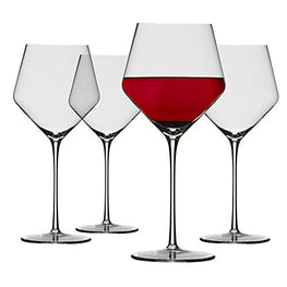 Chefoh Oversized Stemware Wine Glass - Comfy Lead-Free Crystal Glasses Perfect for Wedding - Parties and Bar - 22oz