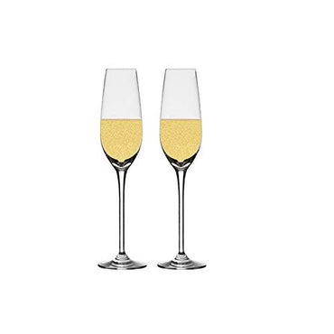 Chefoh Champagne Flutes Crystal Wine Glasses - Perfect for Wedding - Parties and Bar - Made From 100% Pure Glass Pack - 7 Oz - Set of 2