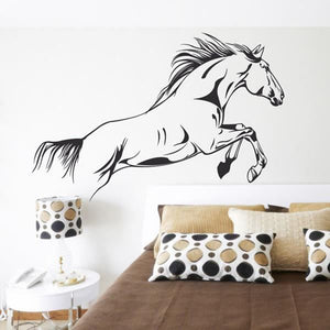 Home Decor Black Running Horse Wall Sticker