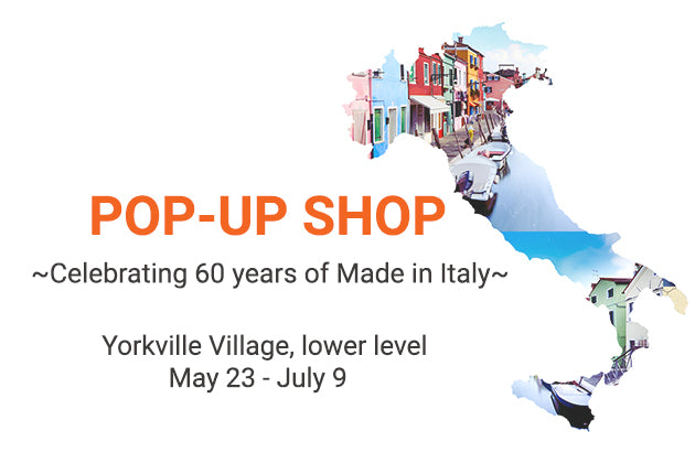 Pop up shop at Yorkville Village from May 23 to July 9