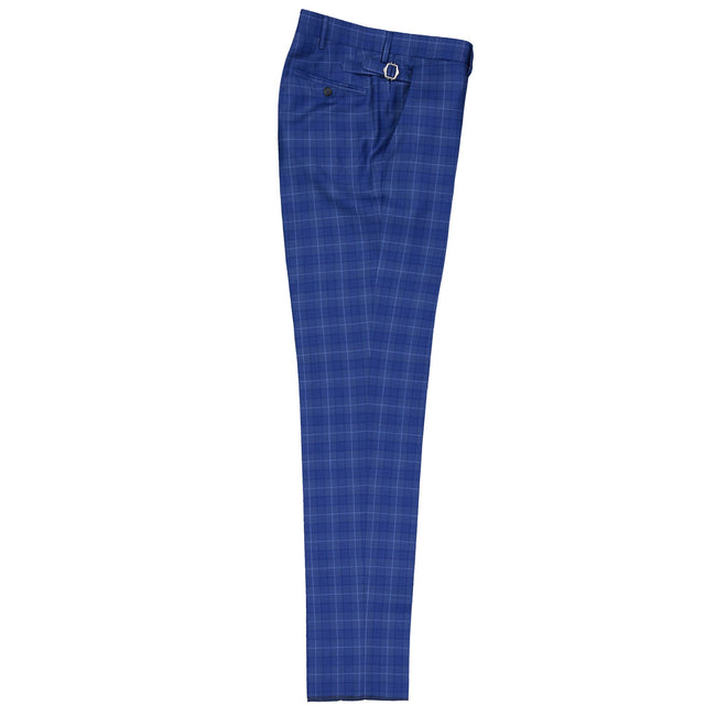 Chic Light Wool Plaid Trouser