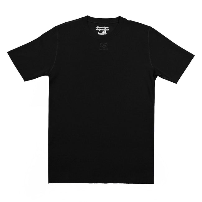 Black Wool-Blend Short Sleeve Base Layer - Bandavej for Via Luca