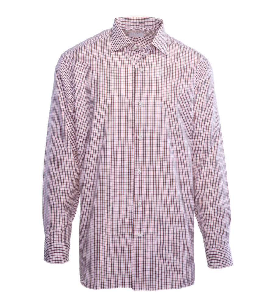 Bordeaux Mini Check Shirt