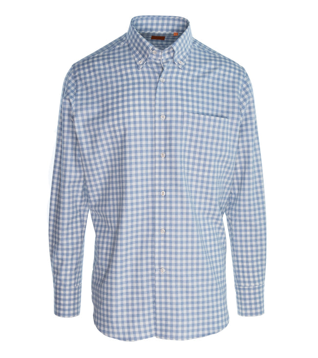 Cotton Cashmere Windowpane Shirt
