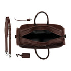 Chocolate Leather Duffle Bag