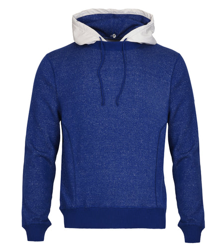Cotton Cashmere Silk Crew with Removable Hood