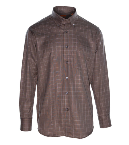 Brown Glenn-check Shirt
