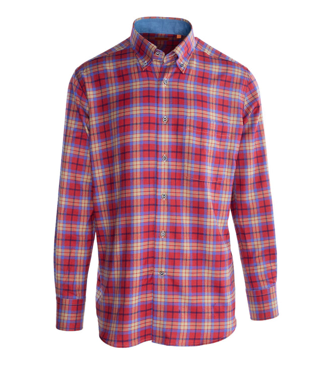 Multi-color Check Brushed Cotton Shirt