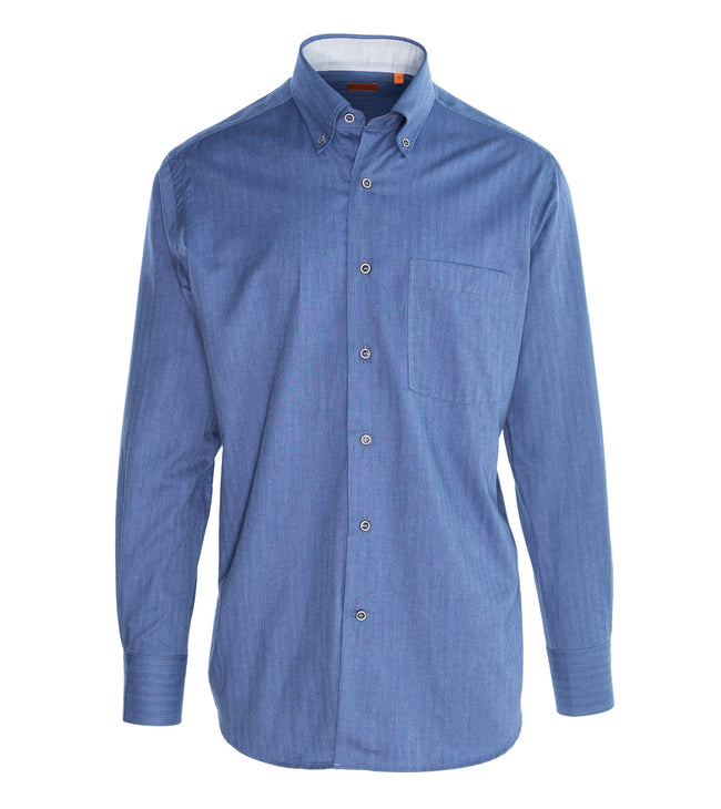 Button-down Pure Cotton Shirt