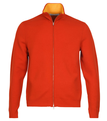 Reversible Full Zip Cashmere-Cotton Sweater