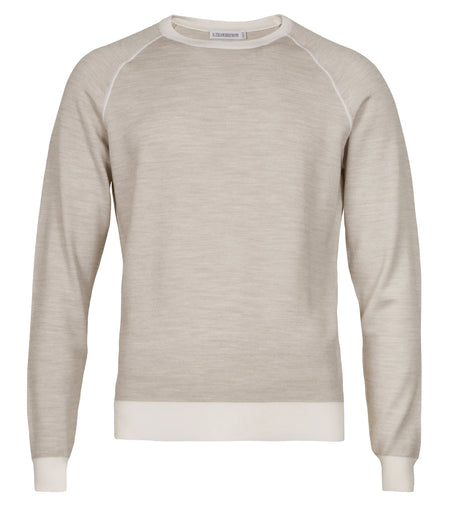 Light Wool-Silk Crew Sweater