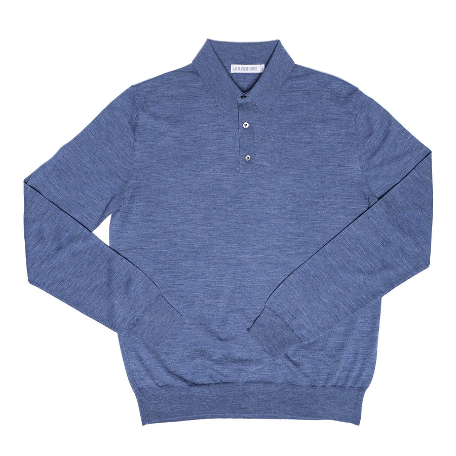Wool Long Sleeve Polo