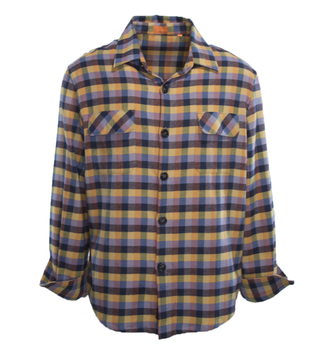 Brushed Cotton Checked Tunic Shirt
