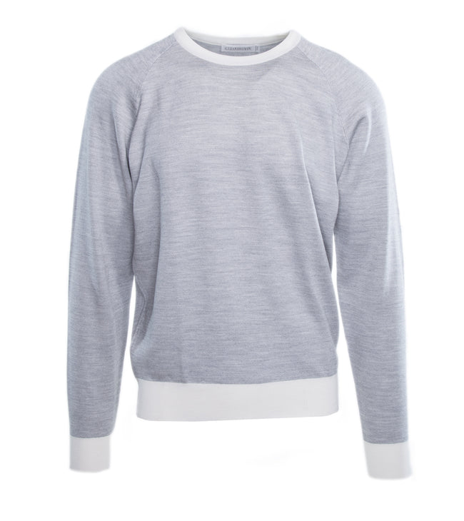 Wool Silk Crew Sweater