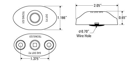 "S21-0S00-1	2"" Oval Sidemarker SS Trim Ring"