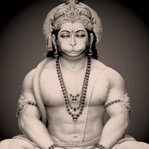 Hanuman, the great monkey god in Hindu mythology