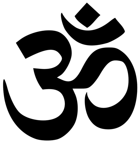 The picture of OM sign for the blog post Meaning of OM and meaning of Namaster