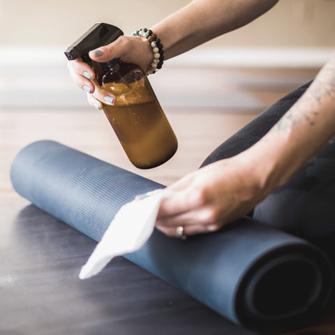 Cleaning wipes for yoga mat