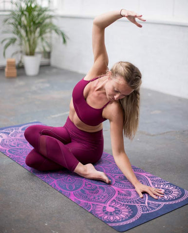 Yoga therapy using Mandala yoga mat of Zenagoy yoga brand