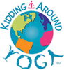 Kidding around kids yoga school logo