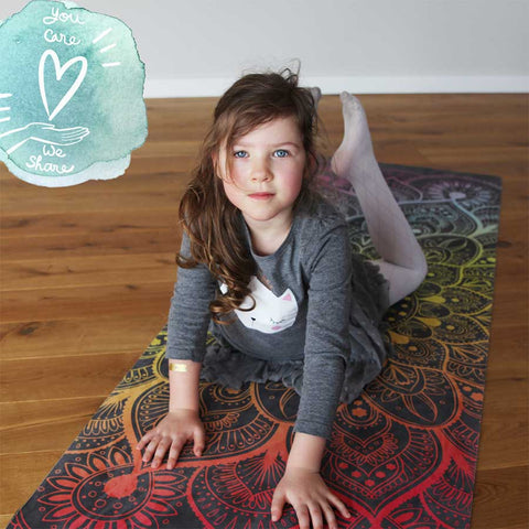 Kids yoga on ZENAGOY Mandala yoga mat