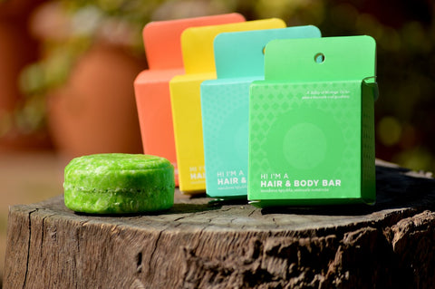 Colorful soap bars for ecofriendly and zero waste living