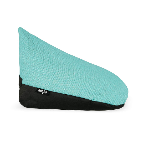 omigo meditation pillow black with turquoise top
