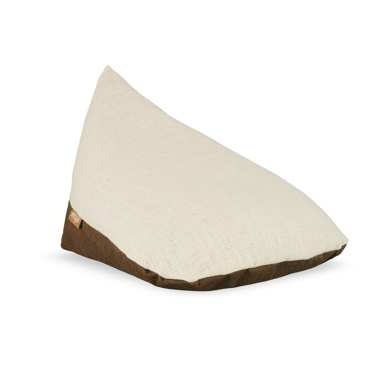 omigo meditation pillow brown with cream top