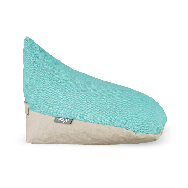 omigo meditation pillow grey with turquoise top
