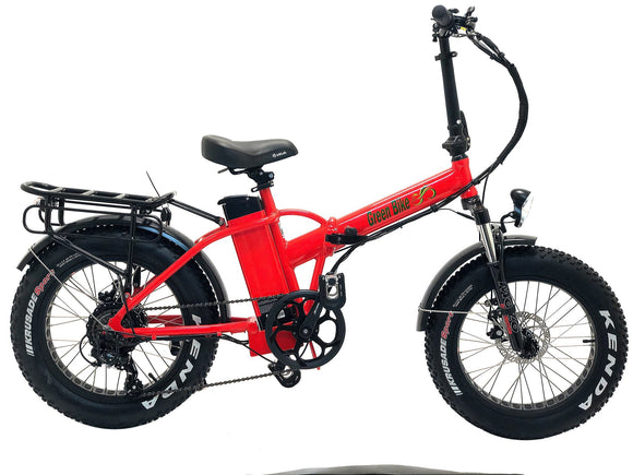 Green Bike USA - GB1 Fat Tire - 500W 48V Folding E-Bike - Bicycle Green Bike USA E-Bike Fast