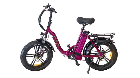 Green Bike USA - Low Step Folding Step Through Fat Tire - 750W 48V 15.4AH E-Bike