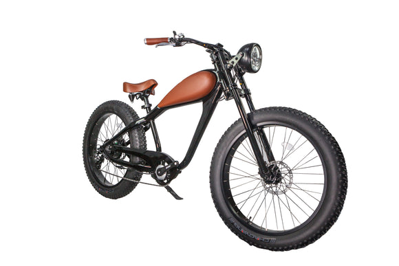 Cheetah - Café Racer 48V (13Ah or 17.5 Ah) - Classic Retro Style Electric Bike (2020 New Feature) - Bicycle Civibikes and Revibikes E-Bike Fast