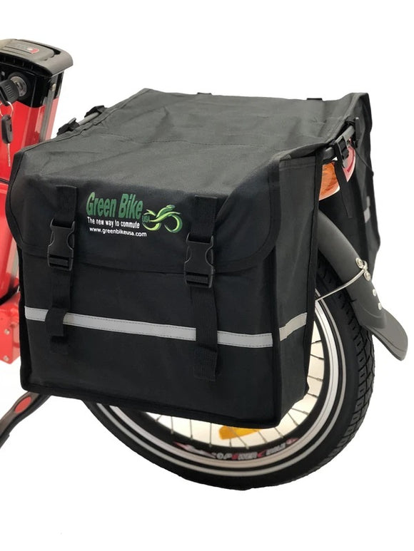 WATER RESISTANT SIDE DOUBLE BAGS | GREEN BIKES USA - E-Bike Fast