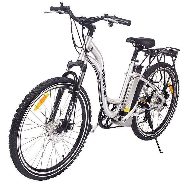 X-Treme Trail Climber Elite - Electric Step-Through Mountain Bike - Bicycle X-Treme E-Bike Fast