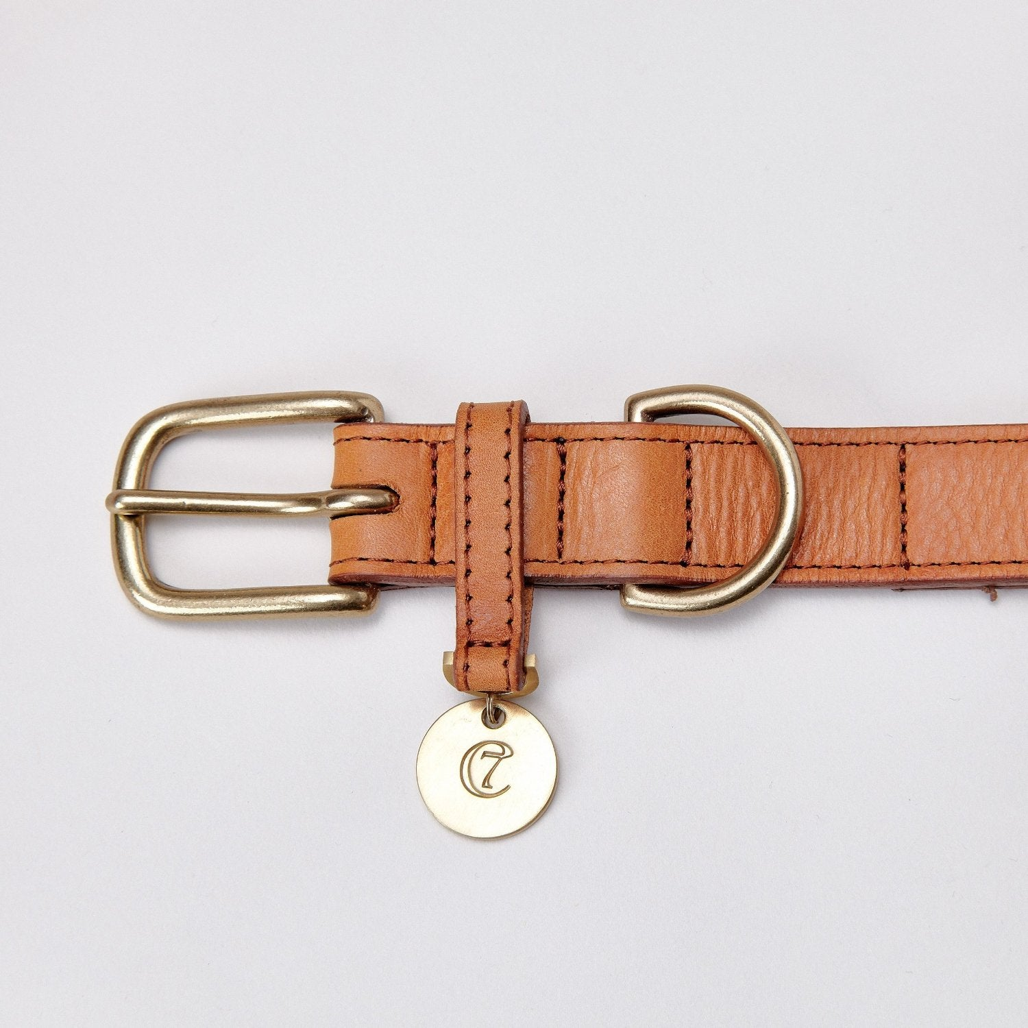 Cloud7 leather dog collar