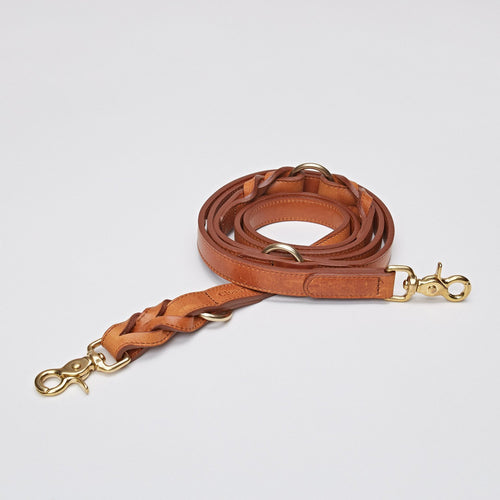 Cloud7 Hyde Park Cognac Leather Dog Lead