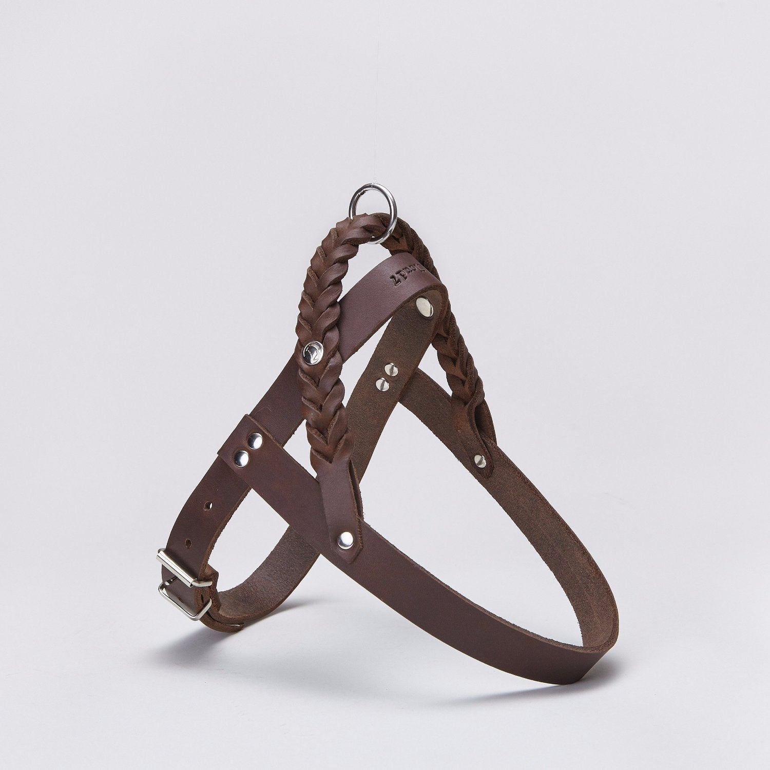 Cloud7 Central Park Saddle Brown Leather Dog Harness