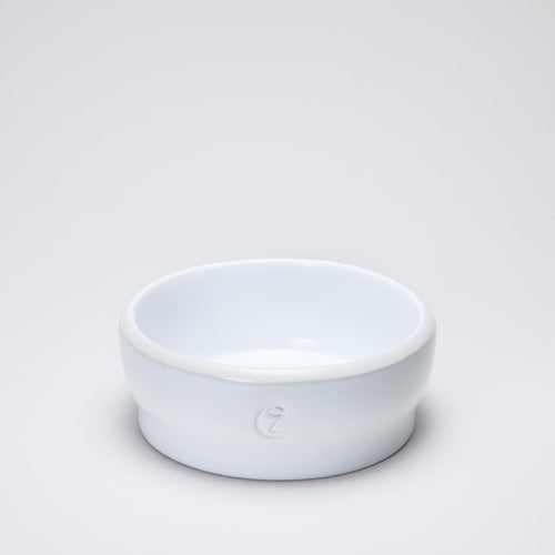 Cloud7 Jamie White Ceramic Dog Bowl