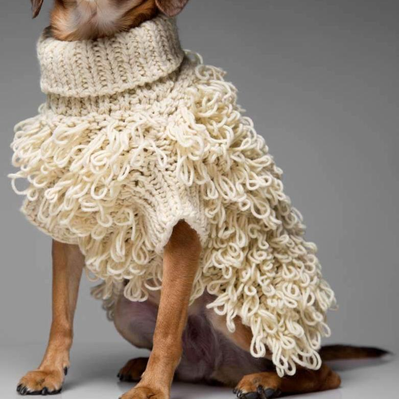 knitted dog jumper