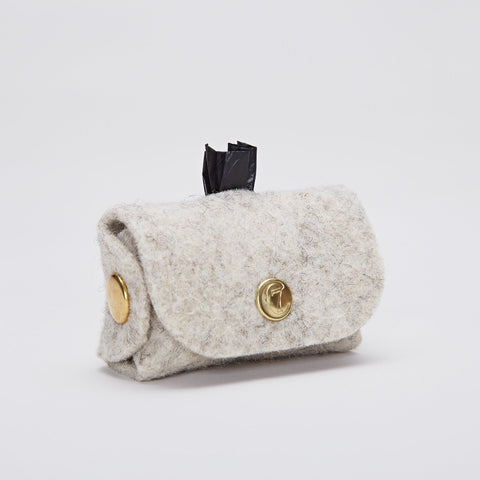 Mister Woof Snakeskin Print Leather Poop Bag Holder