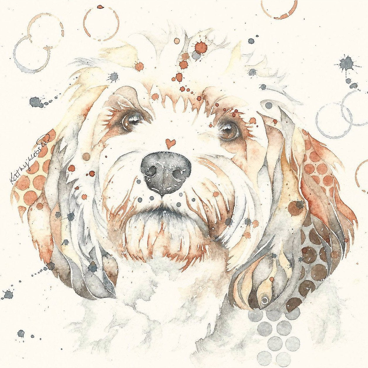 dotty dog art portrait