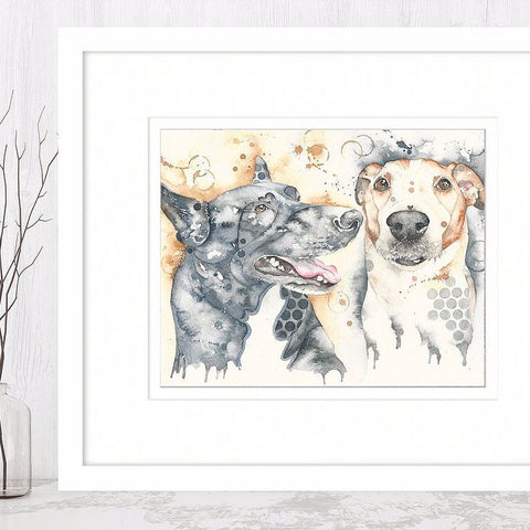 Dotty Dog Art - Staffordshire Bull Terrier Print