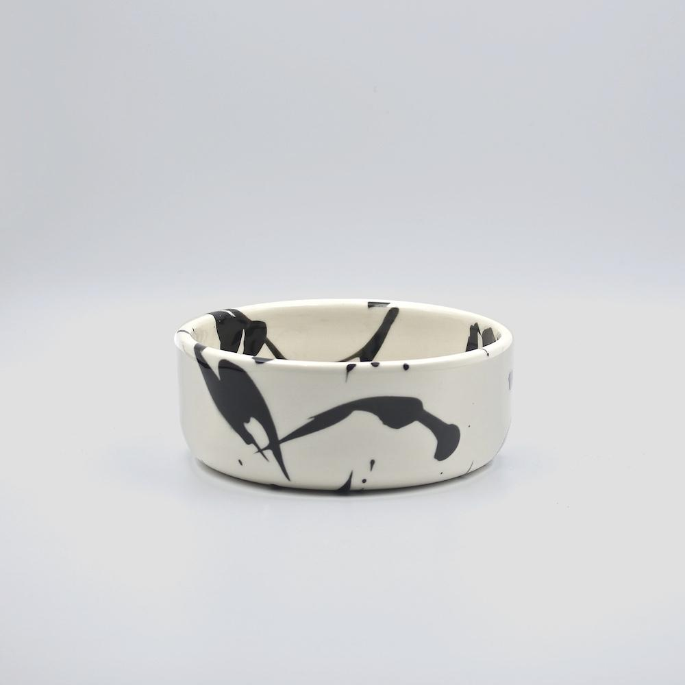 art inspired dog bowl