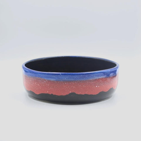 btw Ceramics Black Blur Ceramic Dog Bowl