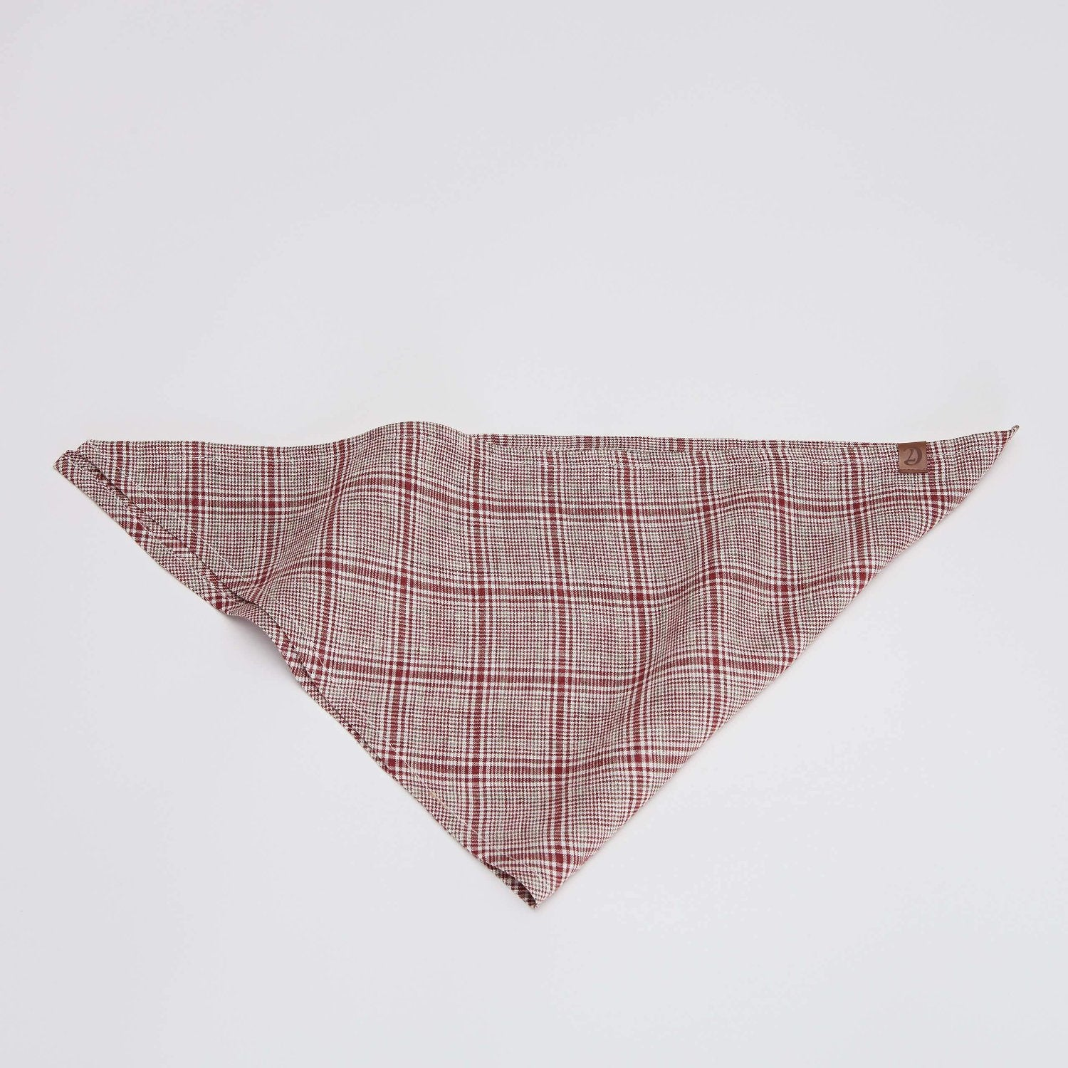 Cloud7 Red and Light Green Check Dog Bandana