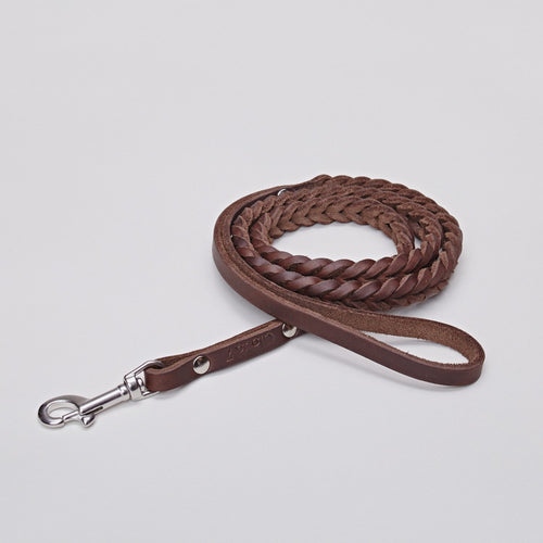 Cloud7 Central Park Saddle Brown Leather Dog Lead