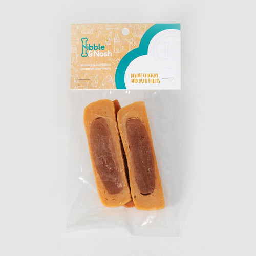 nibble & nosh Chicken & Liver Fillet dog treats