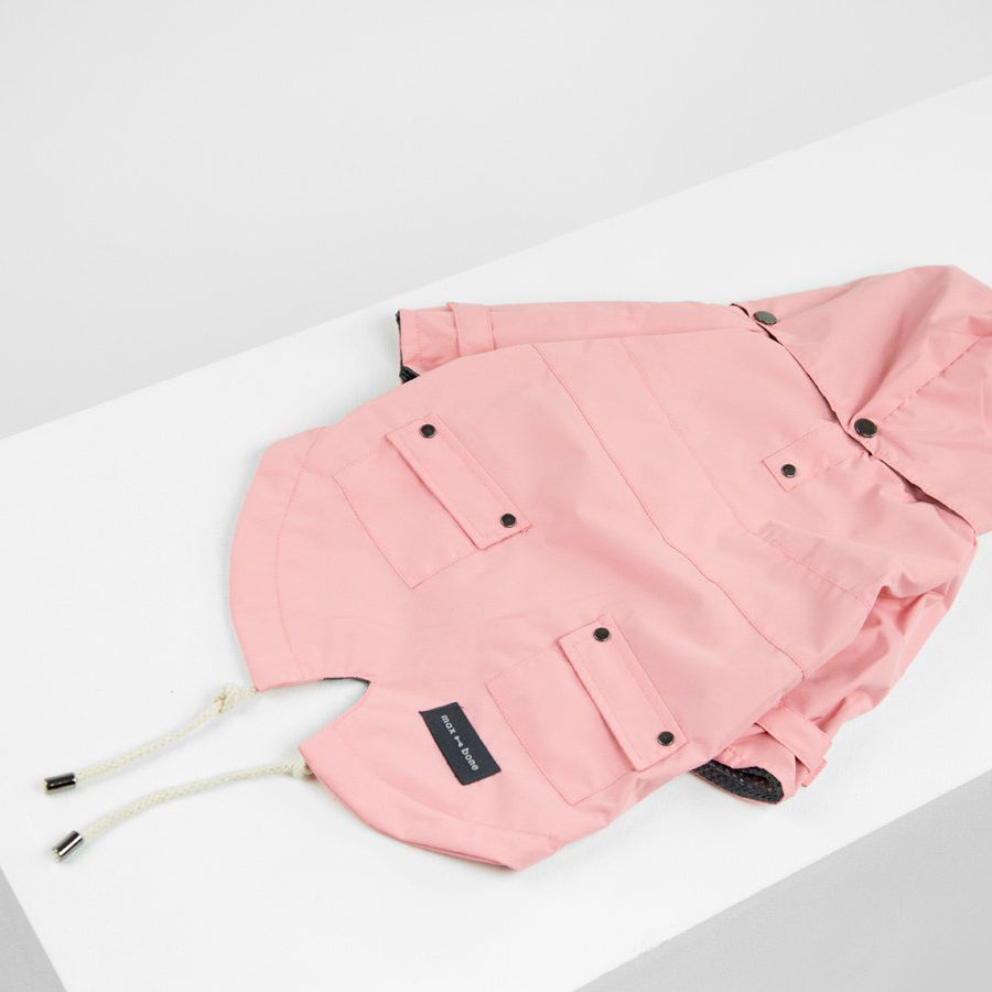 pink waterproof rain jackets for puppies