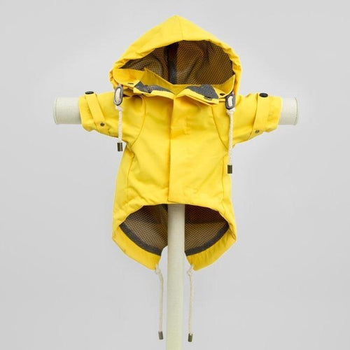 Max Bone Talon Dog waterproof Raincoat - Yellow